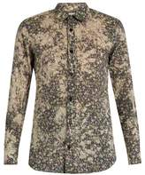 Saint Laurent Floral-print cotton-batiste shirt