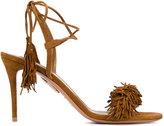 Aquazzura Suede 'Wild Thing' mid-heel sandals