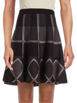 Saks Fifth Avenue Plaid A-Line Skirt