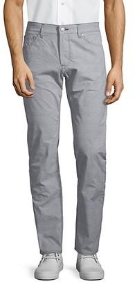 HUGO BOSS Plaid Regular-Fit Jeans
