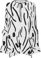 Diane von Furstenberg Chatham-Print Silk Blouse
