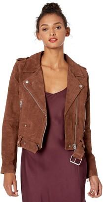 Blank NYC womens Suede Moto Jacket