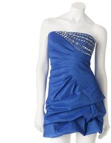 My Michelle beaded pick up-style strapless dress
