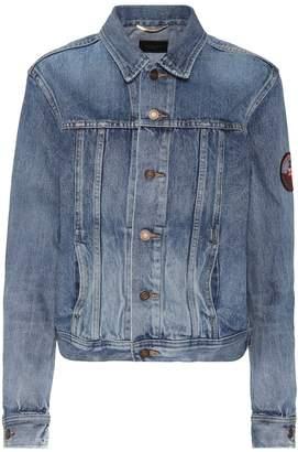 Saint Laurent Denim jacket with applique