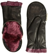 Kate Spade Zip Top Mitten Extreme Cold Weather Gloves