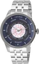 Gevril Men's Columbus Circle Automatic Stainless Steel Bracelet Watch