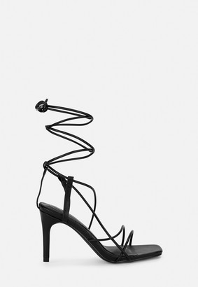 Missguided Black Strappy Low Heels