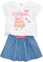Peppa Pig Nickelodeon's 2-Pc. T-Shirt & Skirt Set, Little Girls
