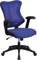 Flash Furniture High Back Blue Mesh Chair with Nylon Base