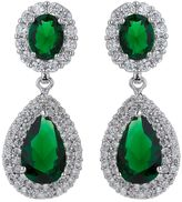 Mikey Twin Oval Cubic Centre Drop Earring