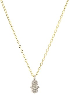 Bloomingdale's Marc & Marcella Diamond Hamsa Pendant Necklace in Gold-Plated Sterling Silver, 15.5 - 100% Exclusive