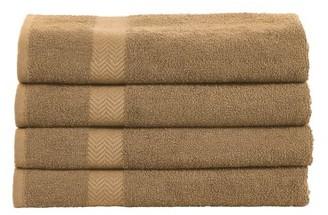 Superior 100-Percent Cotton Eco-Friendly 4-Piece Towel Set - Latte