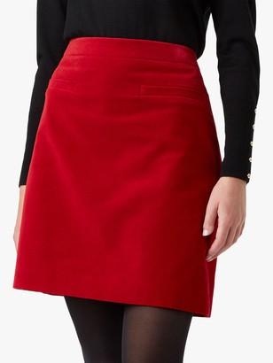 Hobbs Vanetta Cotton Skirt, Red