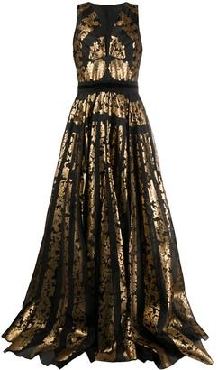 ZUHAIR MURAD Floral-Print Sleeveless Gown