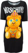 Moschino bear print T-shirt dress - women - Nylon/Rayon/other fibers - 40