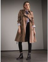 Burberry Tropical Gabardine Trench Coat with Ruffle Detail