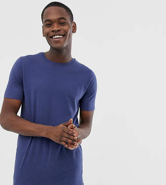 Asos Design DESIGN Tall longline t-shirt with crew neck in navy