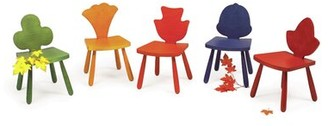"The Children's Furniture Co. Leaf Currant Kids Chair Size: 23"" H x 14.5"" W x 14"" D, Color: Natural"