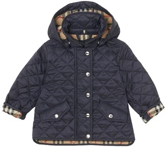 Burberry Quilted Nylon Jacket W/ Hood