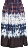 Altuzarra Lucile Pleated Printed Satin Skirt