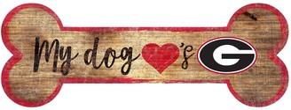 Georgia Bulldogs Dog Bone Wall Sign
