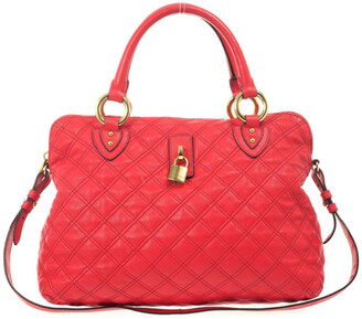 Marc Jacobs Red Quilted Leather 'Rio' Convertible Satchel