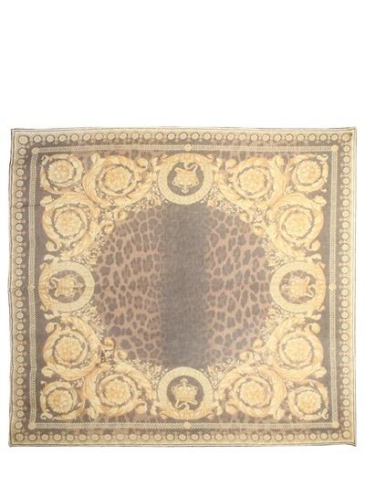Versace Barrocco Modal Cashmere Twill Foulard