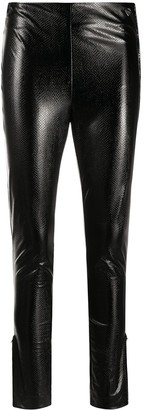 Twin-Set Faux-Leather Skinny Trousers
