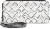 Giani Bernini Graphic Signature Slim Zip Around Wallet, Only at Macy's