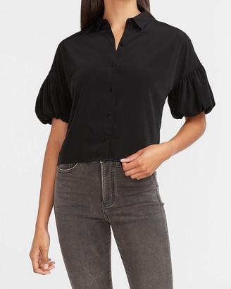 Express Short Puff Sleeve Shirt
