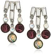 Ben-Amun Jewelry Eclipse Starburst Swarovski Crystal Drop Earrings