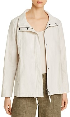 Eileen Fisher Organic-Cotton-Blend Zip Jacket