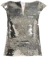 Oscar de la Renta V-neck sequin-embellished top