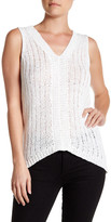 Michael Stars V-Neck Surplice Back Knit Tank