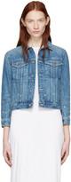 Helmut Lang Blue Shrunken Denim Jacket
