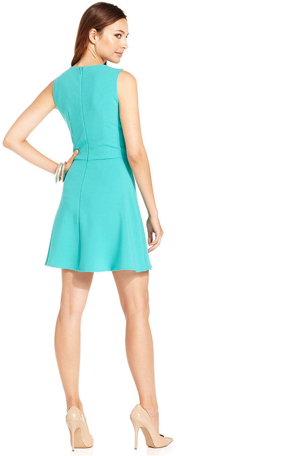 French Connection Dress, Sleeveless High-Neck Cutout A-Line