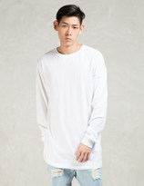 Stampd White L/S Elongated T-Shirt