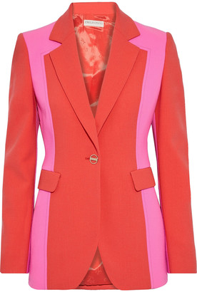 Emilio Pucci Two-tone Stretch-wool Crepe Blazer
