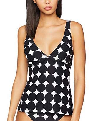 Esprit Women's Miami Beach Padded Tankini Black 001, 12 (Size: )