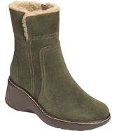 Aerosoles Women's Side-Kick Fur Collared Ankle Boot