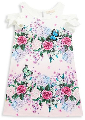 Baby Sara Little Girl's Short Sleeve Floral Dress