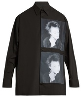 Raf Simons Laurie Anderson-print Stretch-cotton Shirt