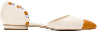 Sarah Chofakian Pointed Toe Ballerina Shoes