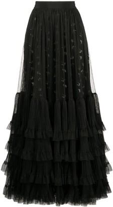 Giambattista Valli Tulle Ruffle-Trimmed Skirt