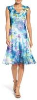 Komarov Women's Floral Print A-Line Dress