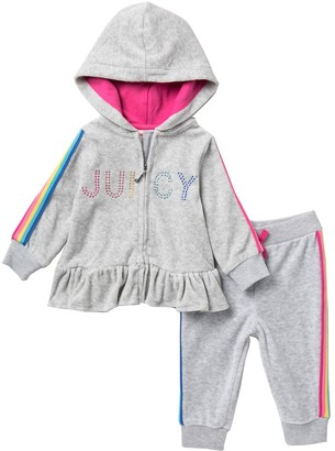 Juicy Couture Logo Hoodie & Pants Set (Baby Girls)