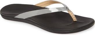 OluKai 'Ho Opio' Leather Flip Flop