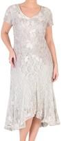 Chesca Ombre Cornelli Lace Dress, Ivory