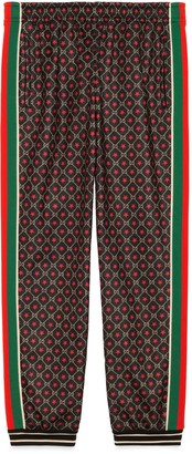 Gucci Loose track bottoms with GG star print