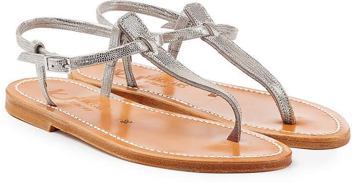 K. Jacques Metallic Leather Sandals